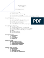 microbiology and genetics course outline spring 2014