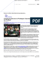 """Changing the Discourse in Washington...""""President's Questions."""""""