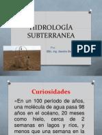 HIDROLOGÍA SUBTERRANEA