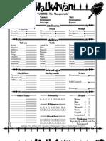 Malkavian Character Sheet