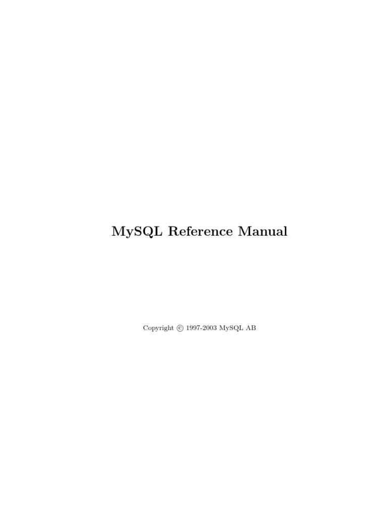 Manual completo de mysql fandeluxe Gallery
