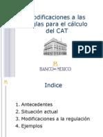 Nuevas reglas de cálculo del Costo Anual Total (CAT) - Banco de México