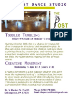 Toddler Tumbling and Creative Movement Flier