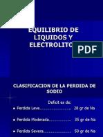 Equuilibrio Liquido y Electrolitico