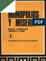 monopolios y miseria CEP Nº 3