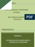 Presupuesto i - Unidad II