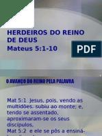 O AVANÇO DO REINO DE DEUS