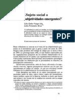 10. -+Sujeto Social o Subjetivia