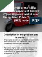 Socio Economic Aspects of Threewheelers Finalised