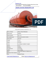 Waste Plastic Pyrolysis Oil Plant DY-1-10