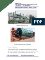 Plastic Recycling Pyrolysis Plant