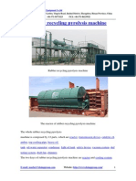 Rubber Recycling Pyrolysis Machine