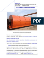 Used Tire Recycling Pyrolysis Machine