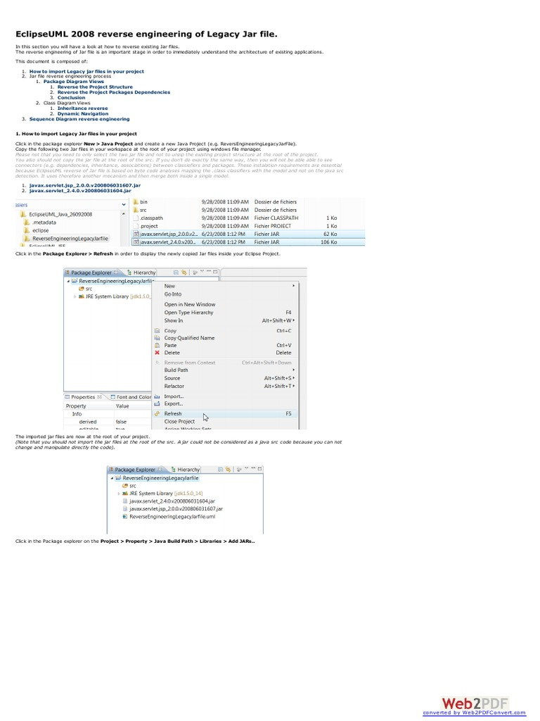 Eclipse Uml Reverse Engineering For Legacy Jar File