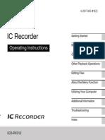 Sony ICDPX312 Manual