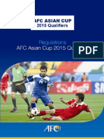 Asian Cup 2015 Qualifiers Regulations