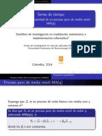 Estacionariedad de un proceso puro de media móvil MA(q)
