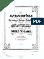 Clarinet Fantasy Pieces by Gade