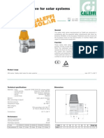 Caleffi 253 Series Solar Safety Relief Valve Specifications