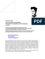 George Orwell -  Anti-communist Propagandist,  Champion of Trotskyism and State Informer