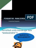 1 Pengantar Manajemen Konsep Dasar Manajemen