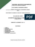 Syl - Estadistica Aplicada a La Ingenieria - Iq