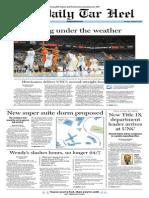 The Daily Tar Heel for January 9, 2014