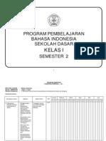 Program Pembelajaran Bahasa Indonesia Sd Kelas i Semester 2
