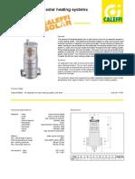 Caleffi Discal Solar Air Separator Specifications