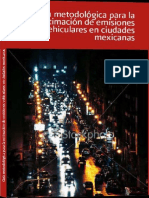 Guia Metodologica Para Estimacion de Emisiones Vehiculares en Ciudades Mexicanas