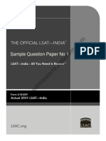 LSAT India 2014 Sample Question Paper 2