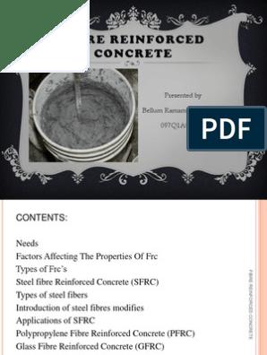 Fiber Reinforced Concrete(1) | Reinforced Concrete