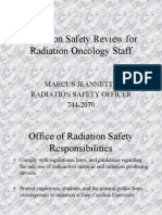 Radiation Oncology Safety Training Module on Blackboard