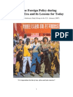 Chinese Foreign Policy during the Maoist Era and its Lessons for Today
