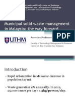 Municipal Solid Waste Management in Malaysia