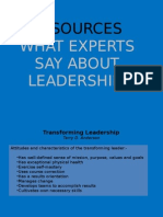 What Experts Say About Leadership