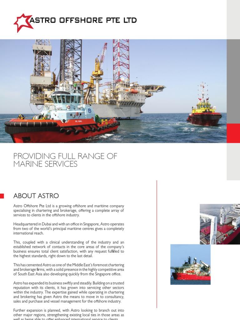 Astro Offshore Brochure   Offshore Drilling   Dubai
