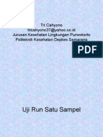 Statistik Run Test Satu Sampel