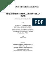 Requirement Management Plan