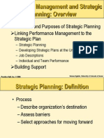 strategic planning in performance management