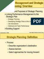 strategic planning in performance management