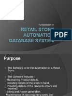 Retail Store Automation Database System