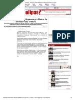 07-01-2014 'Reconoce alcalde de Reynosa problema de baches en la ciudad'.