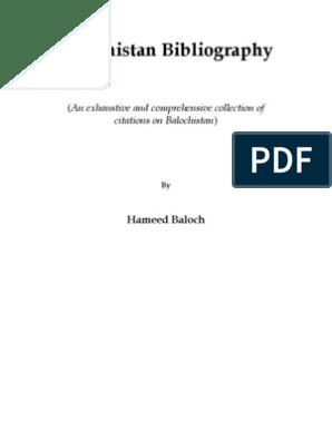 Balochistan Bibliography   Archaeology on