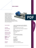 B Series API 610 OH1 Oil and Gas Process Pump Brochure RevA