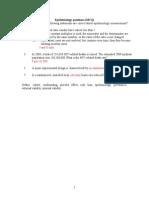 Epidemiology Questions 1 Mid Sem