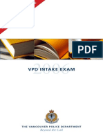 Vpd Recruiting Sample Exam