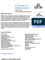 Call For Papers International Journal of Computer Science Issues (IJCSI) - October Issue 2009 (Volume 5)