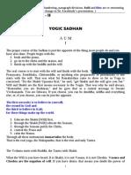 Yogic Sadhan