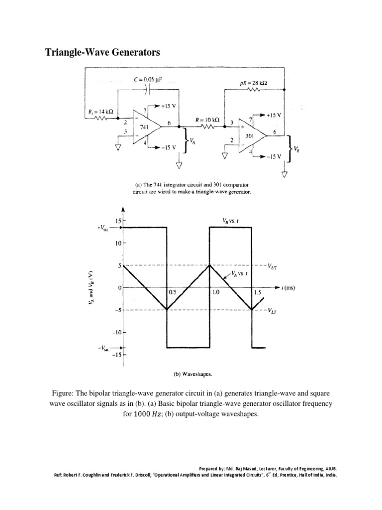 Use Of Opampopreational Amplifier 1pdf Rectifier Operational Triangle Wave Generator Schematic
